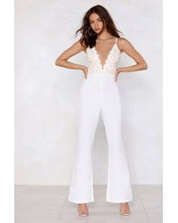 Nasty Gal - Studio Talithia Embroidered Jumpsuit - Lyst