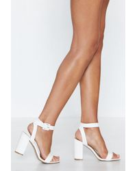 Nasty Gal - Heart To Two-part Heel - Lyst