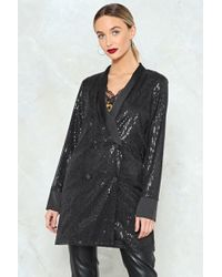 Nasty Gal - The Boss Sequin Blazer - Lyst