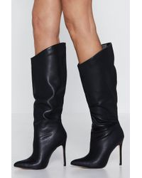 dd223295696069 Nasty Gal - Wicked Heart Knee-high Boot - Lyst