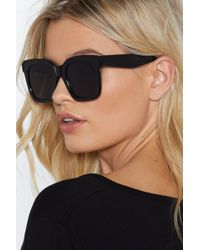 Nasty Gal - Highway To Hell Square Shades - Lyst