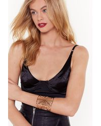 "Nasty Gal ""along Came The Spider Arm Cuff"" - Metallic"