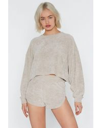 Nasty Gal - Chenille Out Relaxed Lounge Jumper - Lyst