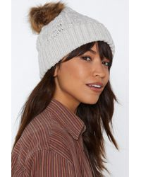 Nasty Gal - Hot Headed Bobble Beanie - Lyst