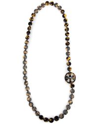 Tory Burch - Logo Necklace - Lyst