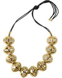 Natori | Josie Gold Brass Cage Round Necklace | Lyst