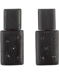 Natori - Josie Acacia Wood With Silver Stacked Earrings - Lyst