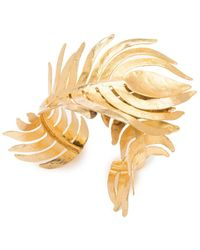 Natori - Josie Gold Plated Brass Peacock Cuff - Lyst