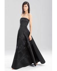 Natori - Duchess Satin Strapless Dress - Lyst