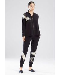 Natori - Cocoon Embroidered Hoodie - Lyst