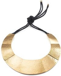 Natori - Josie Geometric Brass Necklace - Lyst