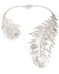 Natori - Josie Silver Plated Brass Peacock Necklace - Lyst