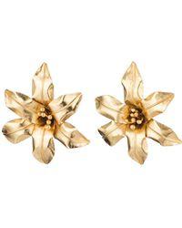 Natori - Josie Brass Floral Earrings - Lyst