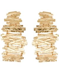 Natori - Hammered Metal Stacked Earrings - Lyst