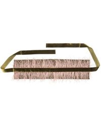 Natori - Josie Stretch Twill Belt With Feathers - Lyst