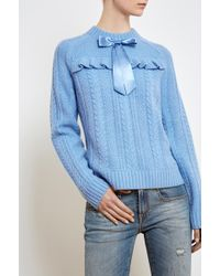 Needle & Thread - Cable Bow Jumper - Lyst