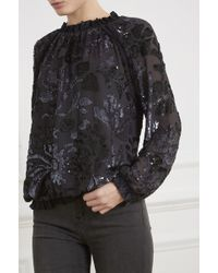 Needle & Thread - Floral Gloss Long Sleeve Top - Lyst