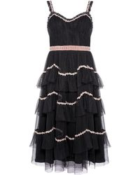f99301b96d Needle   Thread Venetian Scallop Gown in Black - Lyst