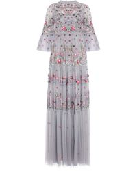 Needle & Thread - Dreamers Embellished Embroidered Tulle Gown - Lyst