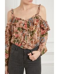 Needle & Thread - Paradise Rose Shimmer Top - Lyst