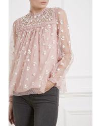 Needle & Thread - Reflection Ditsy Top - Lyst