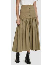 Black Crane - Lantan Buttoned Skirt - Lyst