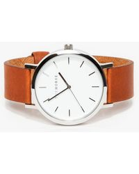 The Horse - Silver/ Tan Band Watch - Lyst