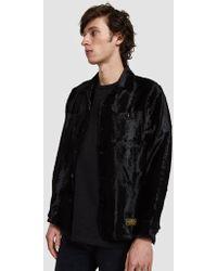 Neighborhood - Long Sleeve Fur Shirt In Black - Lyst