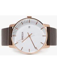Breda - Phase Watch - Rose Gold/brown - Lyst