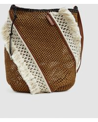 c0c416187491 Lyst - Saint Laurent Small Kate Wooden Weave Box Bag in Brown