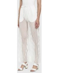 House Of Sunny - Transparent Track Trousers - Lyst