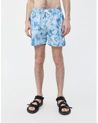 d81b34c420 Native Youth Swim Shorts In Ditzy Floral Print in Blue for Men - Lyst