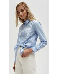 Bruta - Zamba Shirt In Blue Tonal - Lyst