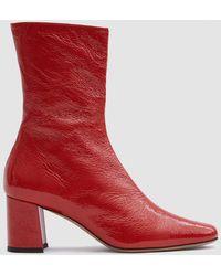 Trademark | Mira Crinkle Patent Boot | Lyst