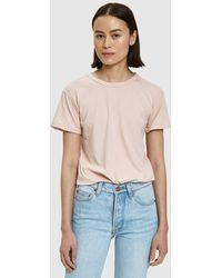 Bliss and Mischief - Destroyed Slim Tee In Rose - Lyst