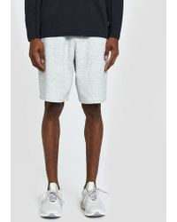 Reigning Champ - Short Heather Bonded Terry In Sky Grey - Lyst