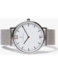 KAPTEN & SON - Campus Silver Mesh Watch - Lyst