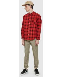 Noon Goons - Sect Shirt In Tartan Red - Lyst