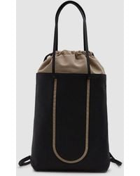 Maison Margiela - Eco Sustainable Leather Backpack In Black - Lyst