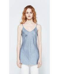 Organic By John Patrick - Bias Camisole In Platinum - Lyst