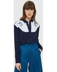 Bruta - Blue Marlin Embroidered Twill Shirt - Lyst