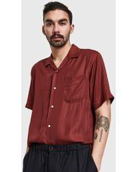 Gitman Brothers Vintage - Burgundy Rayon Camp Shirt - Lyst