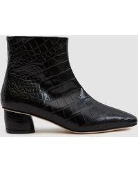 LOQ - Matea Croc Ankle Boot - Lyst