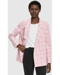 Just Female - Valeria Checkered Blazer - Lyst