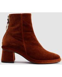 Reike Nen - Ring Slim Boots In Velvet Copper - Lyst