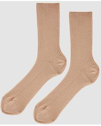 The Nude Label - Cotton Crew Sock - Lyst