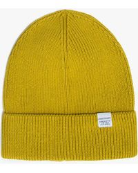 Norse Projects - Cotton Watch Beanie In Edge Yellow - Lyst