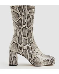 d1e703ff86140 Miista Carlota Dark Green Croc Leather Boots in Green - Lyst