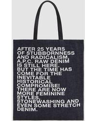 A.P.C. - Gael Shopping Bag - Lyst