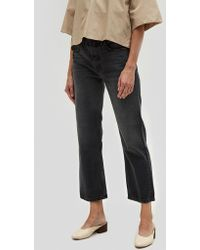 GRLFRND - Linda High Rise Cropped Jean In Midnight - Lyst